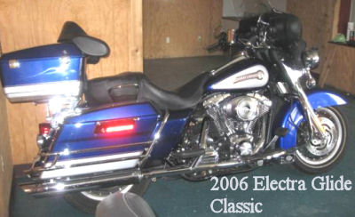 2006 Harley Davidson Electra Glide Classic w Cobalt Blue and Silver Paint Color Scheme