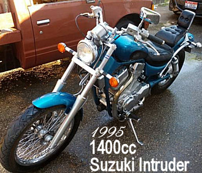 1400cc 1995 Suzuki Intruder 1400 w blue paint color