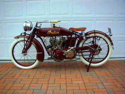 1917 Indian Powerplus Motorcycle Fully Restored with the orginal gas head, tail-lights, a correct M-2 Dixie magneto, a rare optioned Corbin Brown speedometer