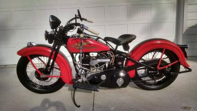 1934 Harley Big Twin VLD Sport Solo motorcycle for sale