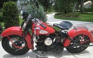 vintage 1940 harley davidson wl solo motorcycle red flathead 45 model
