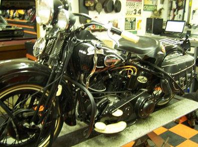 1940 Harley Davidson EL Knucklehead Motorcycle