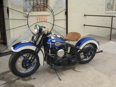 1941 Harley Davidson UL Motorcycle with Sidecar (Side Car) 1941 HD 74cid UL