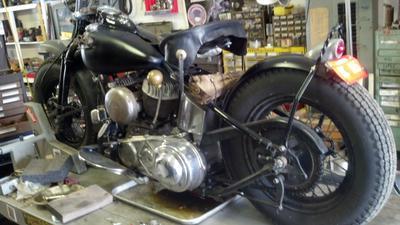 1941 Harley Davidson UL Flathead Bobber motorcycle