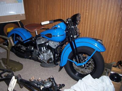1941 Harley Davidson WLD Blue Vintage