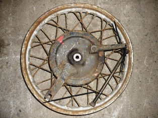 1941 Indian Scout 741 Rear Wheel Rims
