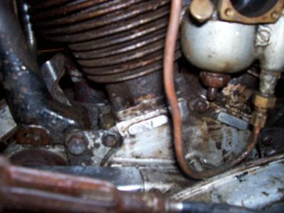 Barn fresh 1945 Indian 45 scout Engine