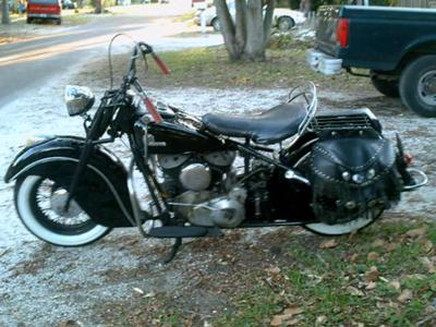 Original 1946 Indian Chief with Kiwi 84 cubic inch motor