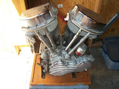 1948 EL Harley Davidson Motorcycle Motor