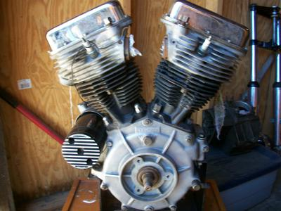 1948 EL Harley Davidson Motorcycle Engine