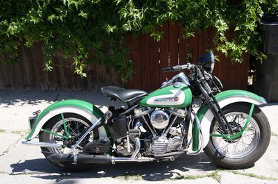 1948 Harley Davidson Panhead FLH motorcycle
