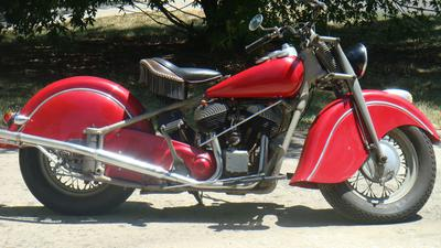 1948 Red Indian Chief Motorcycle
