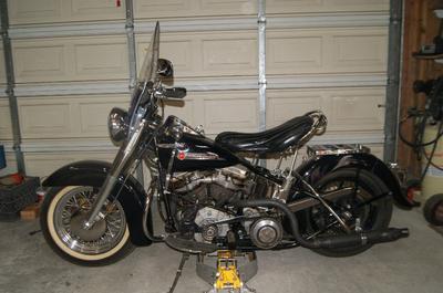 Running1949 Harley Davidson Panhead Motorcycle