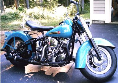 1949 EL Harley Davidson Panhead Motorcycle (this photo is for example only; please contact seller for pics of the actual motorcycle for sale in this classified)