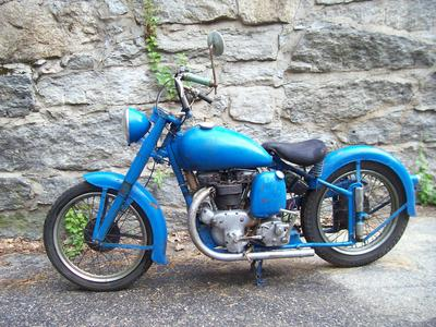 Fresh Barn Find Blue 1949 INDIAN SCOUT