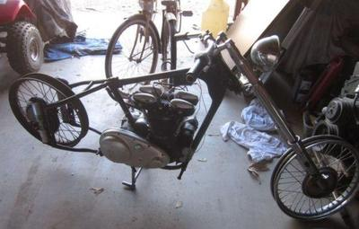 1949 Indian Scout Motorcycle Frame and Motor