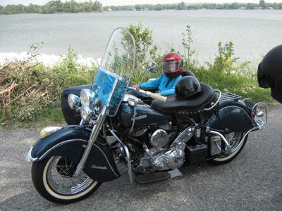 80ci 1950 Indian Chief Motorcycle and Sidecar