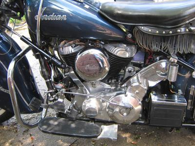 1950 Indian Chief Motorcycle Engine MOTOR