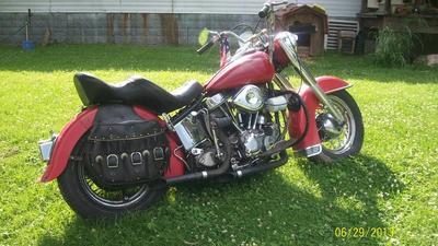 1954 Harley Panhead Motorcycle