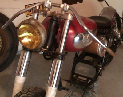 1957 INDIAN TRAILBLAZER ROLLER PROJECT BOARD TRACK RACING - A FINE INDIAN RACING MOTORCYCLE