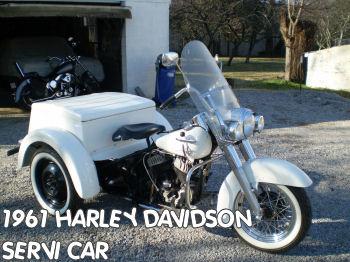 Custom Vintage 1961 Harley Davidson Servi Car Trike Motorcycle Trophy Winner w Custom Paint