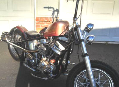 Custom 1962 Harley Davidson Panhead Bobber Motorcycle