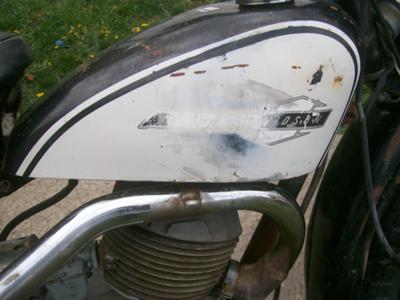 1965 Harley Davidson Scat  Tank