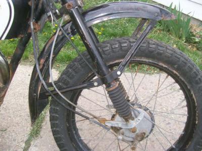 1965 Harley Davidson Scat  Fronter Fender and Wheel