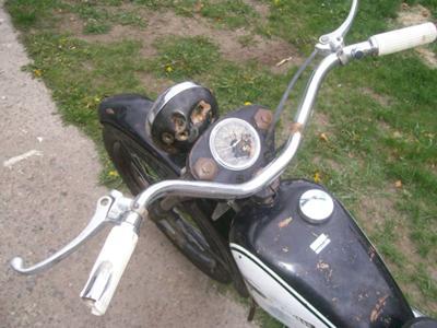 1965 Harley Davidson Scat  Handlebars and Fuel Tank