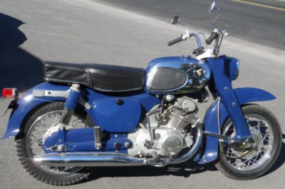 Example of the 1965 Honda Dream 305 in this ad