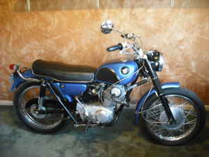 1966 Honda Scrambler Royal Blue Motorcycle