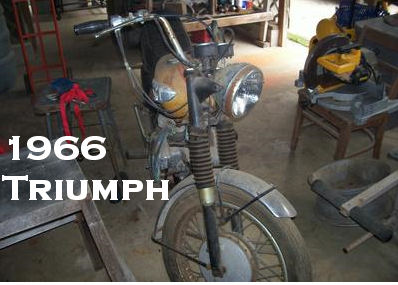 1966 Triumph Bonneville 650 an old restoration ready to be restored to its former glory