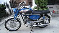 Blue 1968 Yamaha Ycs1