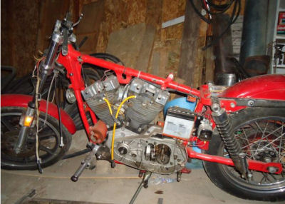 1969 Harley Davidson Ironhead 900cc Sportster Project Motorcycle Basket Case (example only; please email seller for pics)