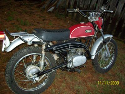 Red and White 1969 Yamaha CT1 Street Trail Bike Picture