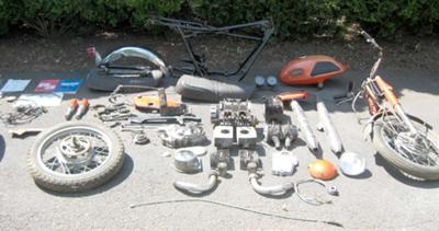 1969 Yamaha YR3 parts Lot