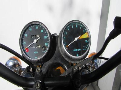 OEM Candy Gold Paint Color 1970 Honda CB750 KO  Built Nov 1969 instrument panel Odometer