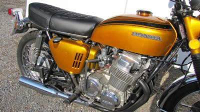 OEM Candy Gold Paint Color 1970 Honda CB750 KO  Built Nov 1969 Engine and Exhaust System