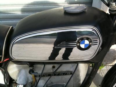 1971 BMW R75 5 motorcycle (this photo is for example only; please contact seller for pics of the actual motorcycle for sale in this classified) fuel tank