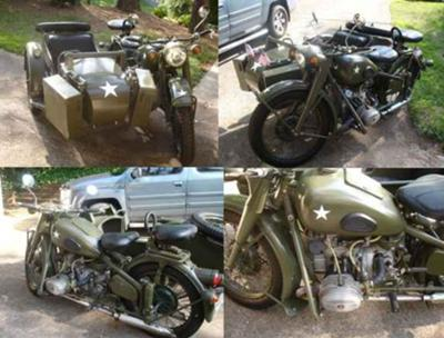 1971 Chang Jiang M1S CJ750 M1 750 Super Sidecar Military Drab Olive Green