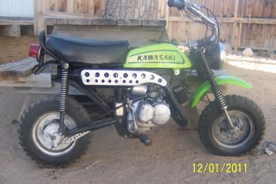 1971 kawasaki  mt1 mini bike
