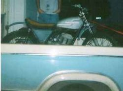 Aqua Teal Blue and Pearl White 1972 AMF Harley Davidson