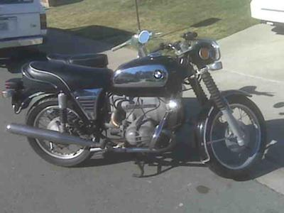 1972 BMW R 60 Airhead Toaster Tank Classic (this photo is for example only; please contact seller for pics of the actual motorcycle for sale in this classified)