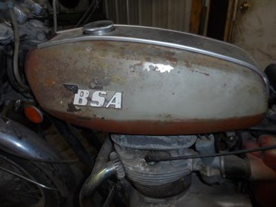 1972 BSA Lightning 650cc Twin motorcycle fuel tank for sale in SD