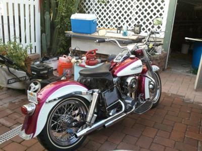 Vintage 1972 Harley Davidson Electra Glide Shovelhead Motorcycle