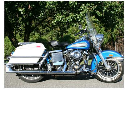 1972 Harley Davidson FLH Electra Glide w minor modifications and original blue paint color