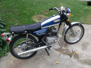 1972 Yamaha LS2 100cc twin Cylinder (this photo is for example only; please contact seller for pics of the actual vintage motorcycle for sale in this classified)