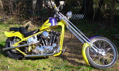 1973 Harley Davidson Sportster Ironhead Chopper