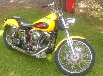 1973 Harley Super Glide with Lots of Custom Motorcycle Parts for sale by owner in NC North Carolina USA