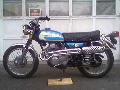 Candy Riviera Blue Honda CL200 Scrambler Picture